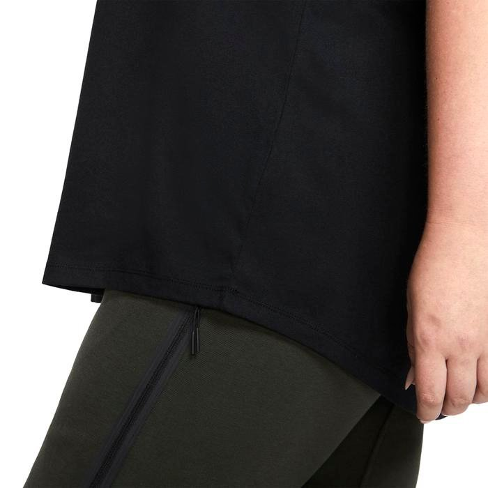 Tee Essntl Futura Plus Kadın Siyah Antrenman Tişört CJ2301-010 1213048