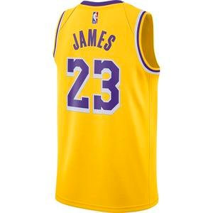 Los Angeles Lakers Lebron James Swingman NBA Erkek Sarı Basketbol Atlet CW3669-734