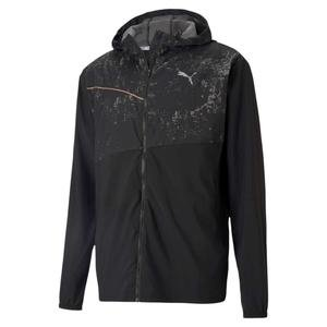 Run Graphic Hooded Jacket Erkek Siyah Antrenman Ceket 52020501