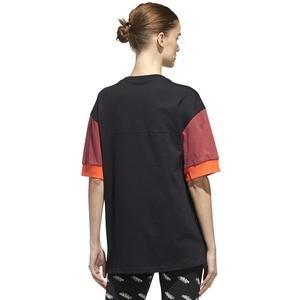 W New A T Kadın Siyah Günlük Stil Tişört GD9031