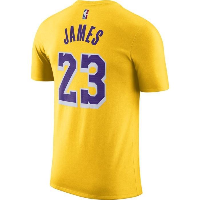 Los Angeles Lakers NBA Lebron Tee Es Nn Erkek Sarı Basketbol Tişört CV8528-730 1274930