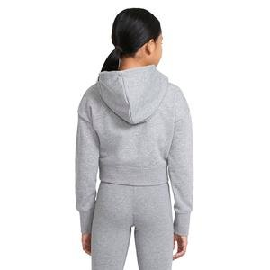 G Nsw Air Ft Crop Hoodie Hbr Çocuk Siyah Günlük Stil Sweatshirt DA1173-091