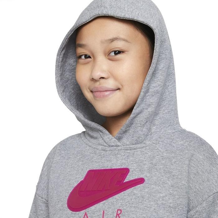 G Nsw Air Ft Crop Hoodie Hbr Çocuk Siyah Günlük Stil Sweatshirt DA1173-091 1274424