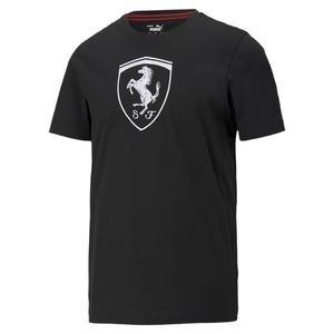 Ferrari Race Big Shield Tee+ Erkek Siyah Günlük Stil Tişört 59984901