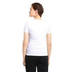 Ess+ Metallic Logo Tee Kadın Beyaz Günlük Stil Tişört 58689002