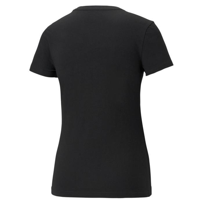 Ess+ Metallic Logo Tee Kadın Siyah Günlük Stil Tişört 58689051 1218253