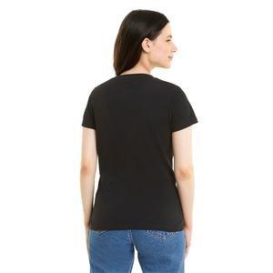 Classics Logo Tee Kadın Siyah Günlük Stil Tişört 53007751