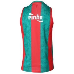 Karşıyaka Unisex Kırmızı Yeşil Basketbol Forma TKY100150-CBK