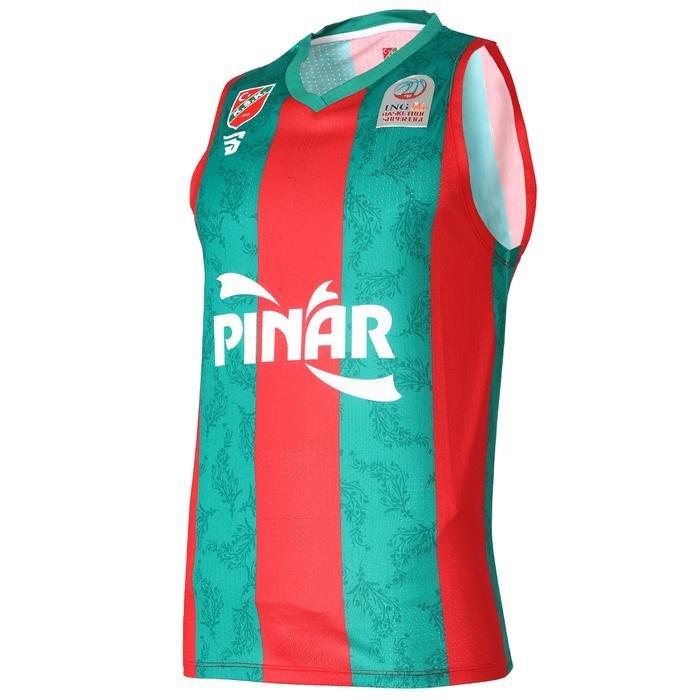 Karşıyaka Unisex Kırmızı Yeşil Basketbol Forma TKY100150-CBK 1236880