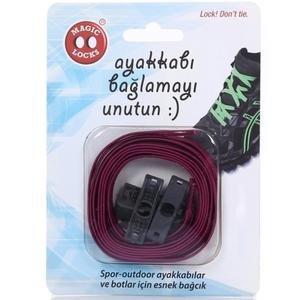 Magic Locks Unisex Fuşya Günlük Ayakkabı Bağcığı 10B1