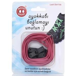 Magic Locks Unisex Pembe Günlük Ayakkabı Bağcığı 13B1