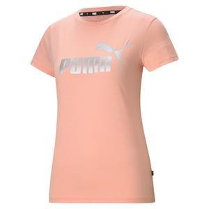 Ess+ Metallic Logo Tee Kadın Pembe Günlük Stil Tişört 58689026