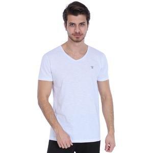 Spo-Flavebasic Erkek Beyaz Günlük Stil Tişört 710387-00W-SP