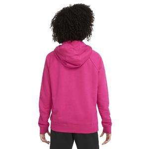 W Nsw Essntl Flc Gx Hoodie Kadın Kırmızı Günlük Stil Sweatshirt BV4126-617