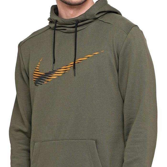 M Nk Dry Hoodie Po Swoosh Erkek Yeşil Antrenman Sweatshirt CJ4268-325 1174635