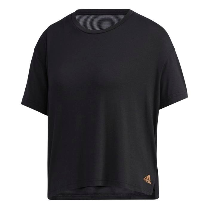W U-4-U Tee Kadın Siyah Günlük Stil Tişört GG3413 1224270