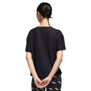 W U-4-U Tee Kadın Siyah Günlük Stil Tişört GG3413
