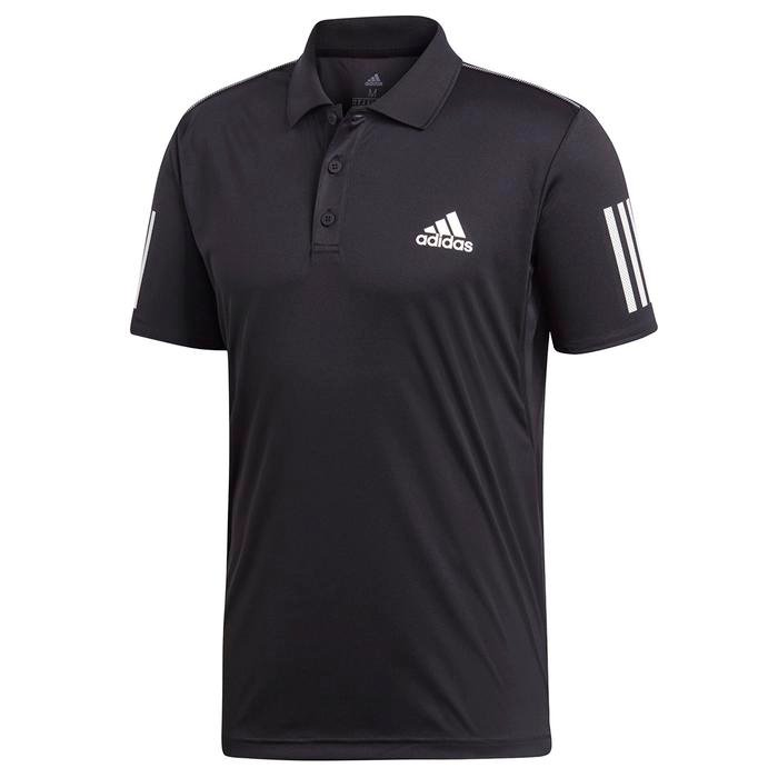 Club 3Str Polo Erkek Siyah Tenis Polo Tişört DU0848 1221837