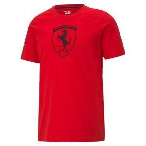 Ferrari Race Big Shield Tee+ Erkek Kırmızı Günlük Stil Tişört 59984902