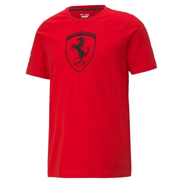 Ferrari Race Big Shield Tee+ Erkek Kırmızı Günlük Stil Tişört 59984902 1219232