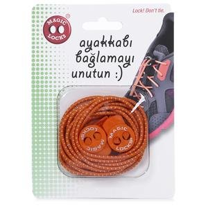 Magic Locks Unisex Turuncu Günlük Ayakkabı Bağcığı 14A1