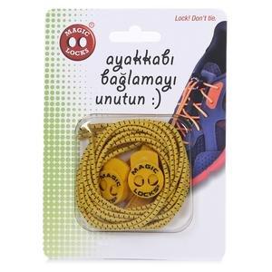 Magic Locks Unisex Sarı Günlük Ayakkabı Bağcığı 15A1