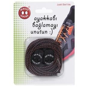 Magic Locks Unisex Kahverengi Günlük Ayakkabı Bağcığı 8A1