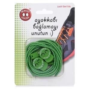 Magic Locks Unisex Yeşil Günlük Ayakkabı Bağcığı 16A1