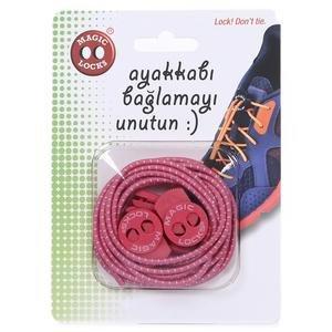 Magic Locks Unisex Pembe Günlük Ayakkabı Bağcığı 13A1