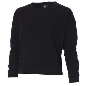 Spo-Overwomsweat Kadın Siyah Günlük Stil Sweatshirt 711239-SYH-R