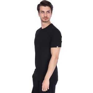 Basic Erkek Siyah Günlük Stil Tişört 710200-00B