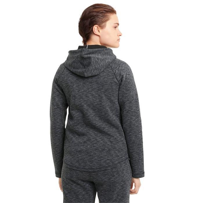 Evostripe Full-Zip Hoodie Kadın Siyah Günlük Stil Sweatshirt 58594501 1217777