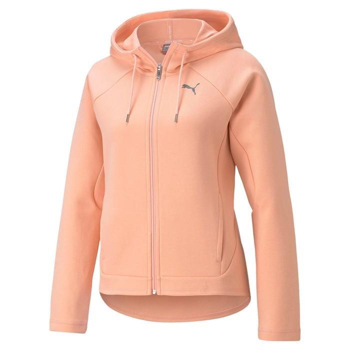 Evostripe Full-Zip Hoodie Kadın Pembe Günlük Stil Sweatshirt 58594526 1217792