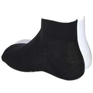 Unisex Siyah-Beyaz Günlük 2li Soket Çorap 2021002-SB