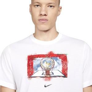 M Nk Dry Oc Photo Ss Tee Erkek Beyaz Basketbol Tişört DB5991-100
