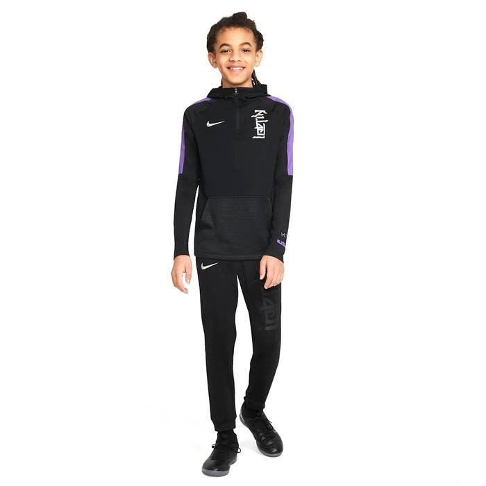 Km Y Nk Dry Hoodie Çocuk Siyah Futbol Sweatshirt CV1501-010 1274197