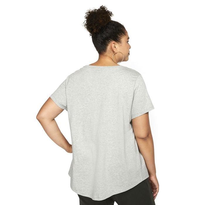 W Nsw Tee Essntl Futura Plus Kadın Gri Günlük Stil Tişört CJ2301-063 1274608