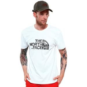 M S/S Woodcut Dome Tee Erkek Beyaz Outdoor Tişört NF00A3G1LA91