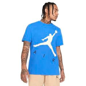 Air Jordan NBA Jumpman Air Hbr Ss Crew Erkek Mavi Basketbol Tişört CV3425-403