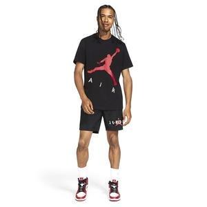 M J Jumpman Air Hbr Ss Crew Erkek Siyah Basketbol Tişört CV3425-010