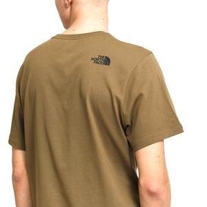 M S/S Woodcut Dome Tee-Eu Erkek Yeşil Outdoor Tişört NF00A3G137U1
