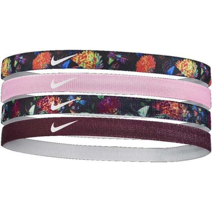 Girl'S Printed Headbands 4Pk Unisex Siyah Antrenman Saç Bandı N.000.1144.953.OS 1042384