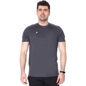Erkek Gri Basic Antrenman Tişörtü TKY100112-ANT
