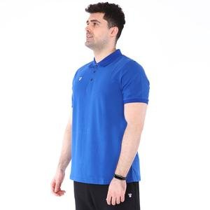Erkek Mavi Polo Yaka Günlük Stil Tişört TKU100107-SAX