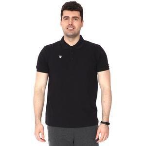 Erkek Siyah Polo Yaka Günlük Stil Tişört TKU100107-SYH