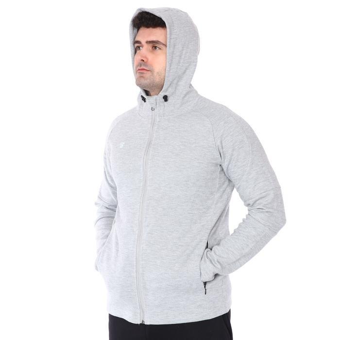 Kamp Fermuarlı Erkek Gri Basketbol Sweatshirt TKY100116-GRI 1235374