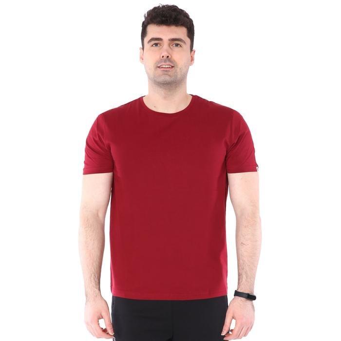 Spt Basic Erkek Bordo Günlük Stil Tişört 710200-0BR-SP 1279609