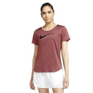 W Nk Swoosh Run Top Ss Kadın Kırmızı Koşu Tişört CZ9278-691