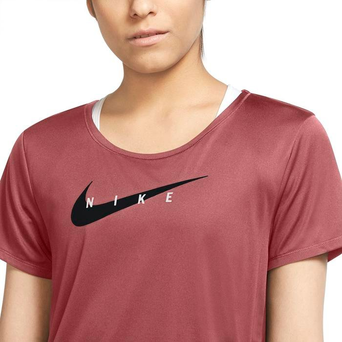 W Nk Swoosh Run Top Ss Kadın Kırmızı Koşu Tişört CZ9278-691 1286193
