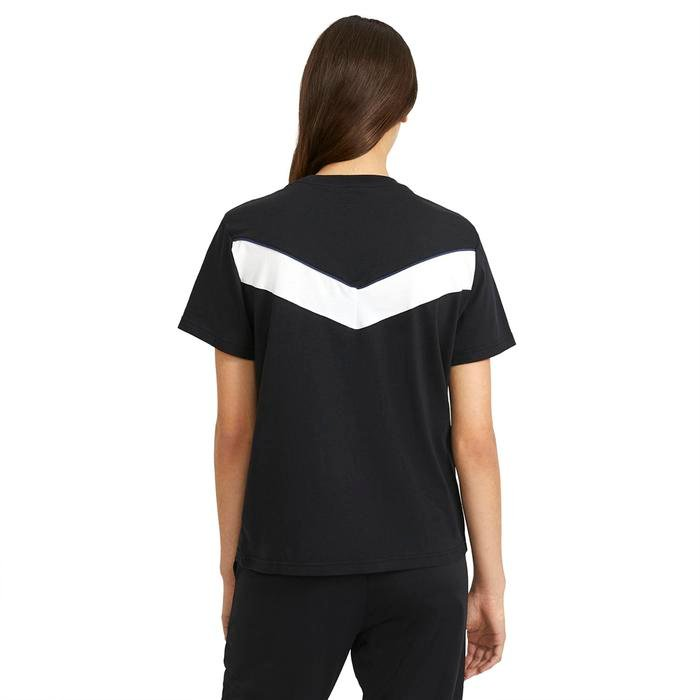 W Nsw Heritage Ss Top Hbr Kadın Siyah Günlük Stil Tişört CZ8612-010 1274655
